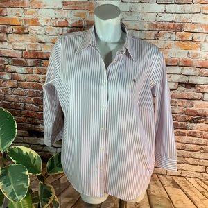 Ralph Lauren 100% Cotton Button Down Shirt w/ Logo